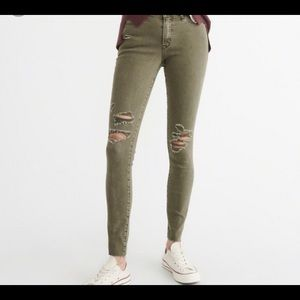 Olive jeans from Abercrombie